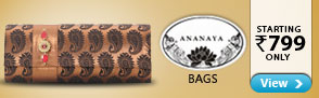 Ananya Bags starting Rs.799 only