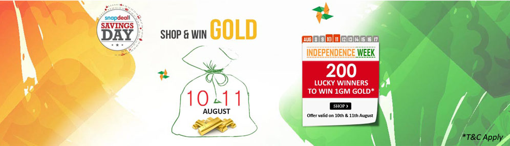 Independence Week Offer: Shop and Get Chance To Win Gold Shop&WinGoldbanner
