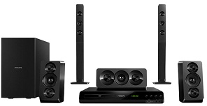 Philips  5.1 DVD Home theater Double basspipes HTD5550/98