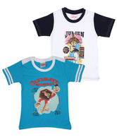 Madagascar White & Blue Pack of 2 T-Shirts