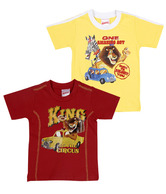 Madagascar Red-Yellow Pack of Two T-Shirts