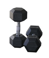 Protoner Weight Lifting Hex Rubber Dumbells , Dumbell 5 Kg X 2