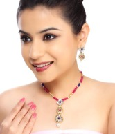 Kshitij Majestic Multicolour Beads Necklace Set