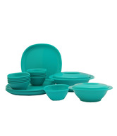 Incrizma Green 22 Pcs Square Dinner Set