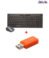 Advik Wireless Keyboard Mouse Combo WITH All-in-one Card Reader