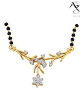 Ag Real Diamond Beautiful Dangling Star Mangalsutra