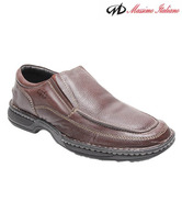 Massimo Italiano Humer Brown Slip-on Shoes