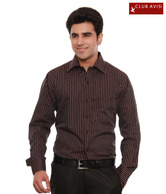 Club Avis USA Stylish Brown Striped Men's Shirt