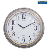 Rhythm Silver Round Shape Wall Clock