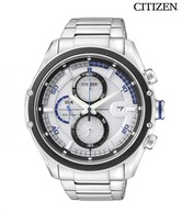 Citizen Stylish White Eco Drive Chrono Watch
