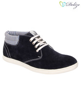 Delize Navy Blue Ankle Length Shoes
