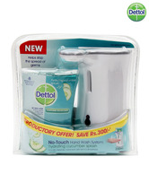 Dettol No Touch Liquid Hand Wash Kit Cucumber