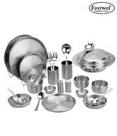 Everwel Stainless Steel 25 Pcs Amazing Dinner Set