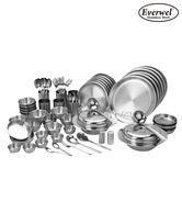Everwel Stainless Steel 68 Pcs Glam Dinner Set