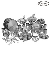 Everwel Stainless Steel 90 Pcs Dinner Set For Family