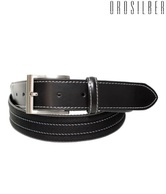 Orosilber Black Horizontal Stripe Belt