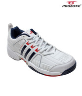 Prozone White & Navy Blue Sports Shoes