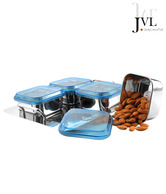 JVL Store & Serve 4 Pcs Container Set With A Tray