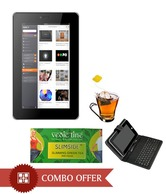 Combo OfVOX 7 Inch Dual Sim Calling Slim Tablet V102 & Lather Case Keyboard