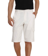 Casual Tees White Cotton Lycra Men's Shorts