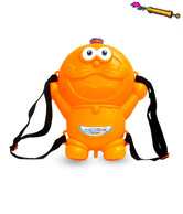 Holi Water Gun With Animated Tank Backpack Orange