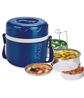 Priya Blue Envy Insulated Tiffin Box With 2 Containers