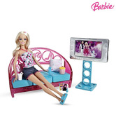 Barbie Movies To Munchies Living Room With Doll