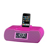 FM-RBDS / AM / Aux-in Digital Tuning Atomic Clock Radio with iPod Dock