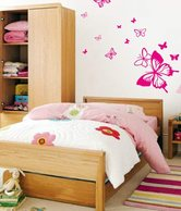 WallDesign Butterfly Away Pink Wall Stickers 1