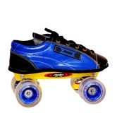 Jaspo Sr. Pro 20 Silver Black Skate Shoe (Blue Wheel)