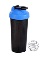 Sun Plastics Shaker Bottle (600 ML) - Black & Blue