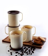 Tupperware Coffee Mugs(set of 4) Plastic Containers 4pc Tupperware Coffee Mugs