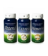 VAXA Attend Strategy Pac - Attend 60 Capsules Memorin+ 60 Capsules Extress 60 Capsules