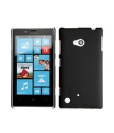 CUBIX Ultra Thin Rubberized Matte Hard Case Back Cover For Nokia Lumia 720 (Black)