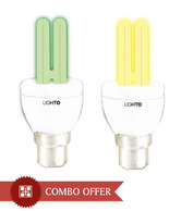 LightO Green & Yellow CFL 5W - Set Of 4