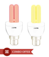 LightO Yellow & Red CFL 5W - Set Of 4