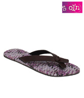 Stol'n Alluring Purple & Brown Flats