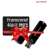 Transcend 8GB Jet Flash 700 Pen Drive & 4GB Micro SD Card Combo