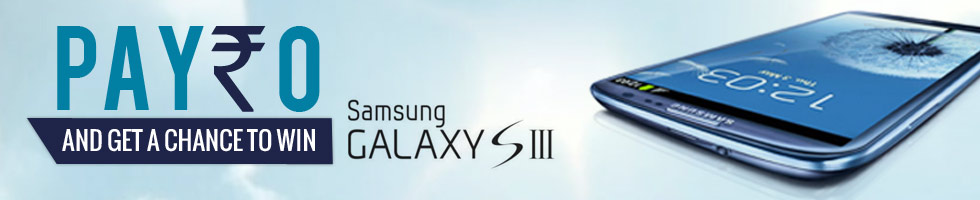 Pay Rs.0 and Get a chance to win Samsung Galaxy SIII @ Snapdeal