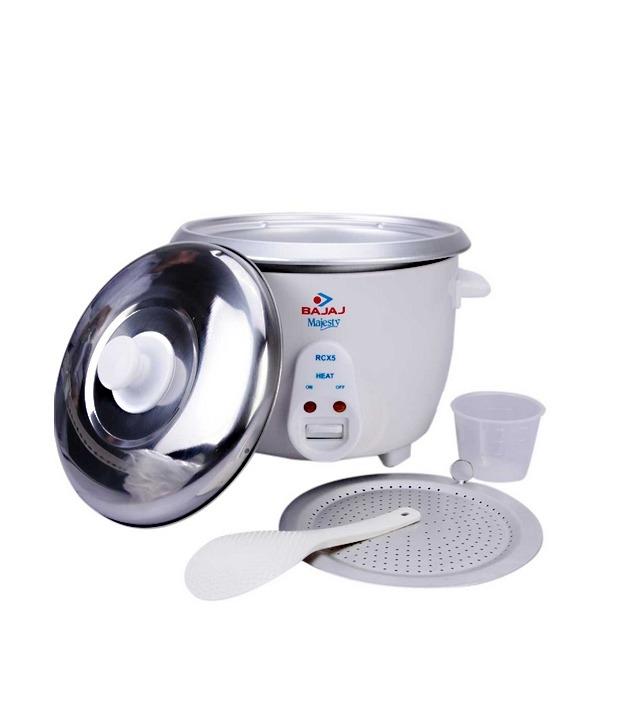 aa46ce23bf3 Bajaj 1.8 L RCX-5 Rice Cooker White Price in India - Buy Bajaj 1.8 L ...