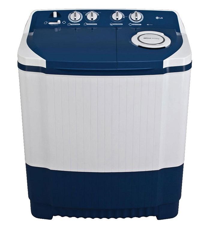 Image result for LG 6.5 Kg P7556R3FA Semi Automatic Top Load Washing Machine Dark Blue
