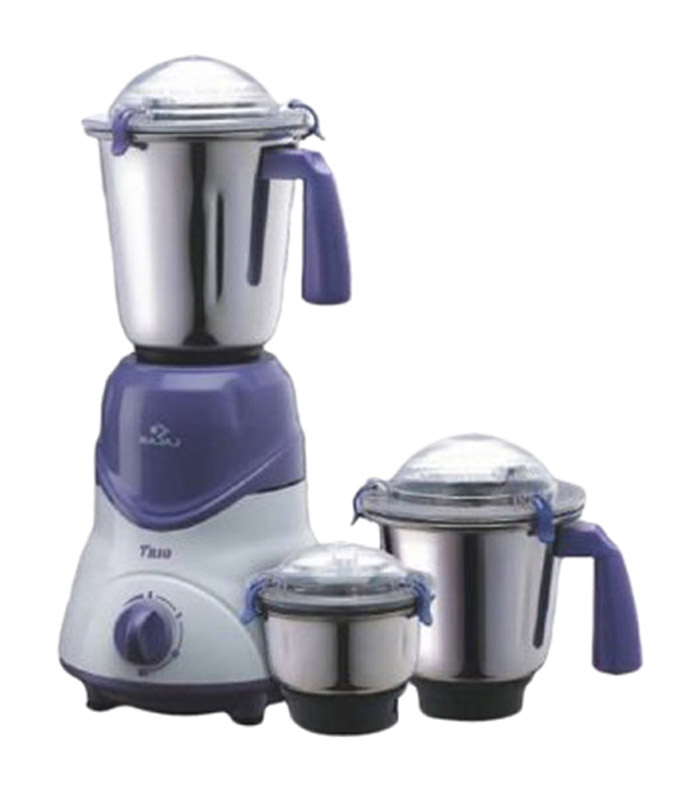 the bajaj abs plastic mixer grinder comes with anti skid feet that hold the whole device together when in operation the three legs keepthe whole thing in