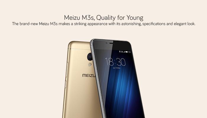 Buy Meizu M3s 32GB (4G, Octacore, Finger Print Sensor) Mobile Phone
